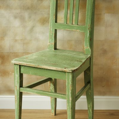 Holzstuhl grün
