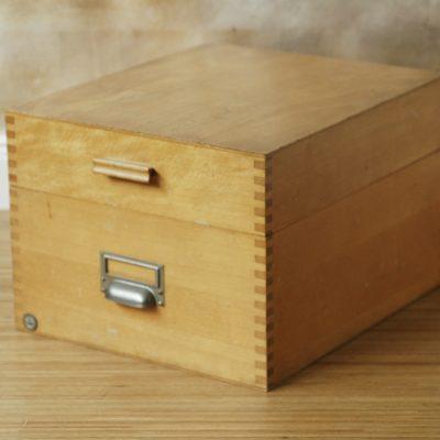 Karteikarten Kiste