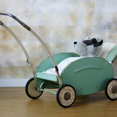 Puppenwagen Shabby mint