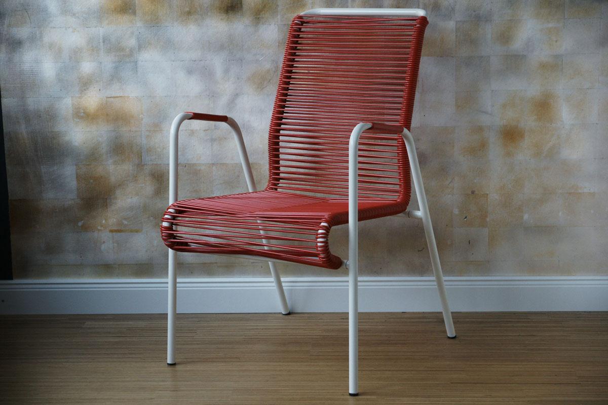 spaghettistuhl rot gartenstuhl klassiker co. Black Bedroom Furniture Sets. Home Design Ideas