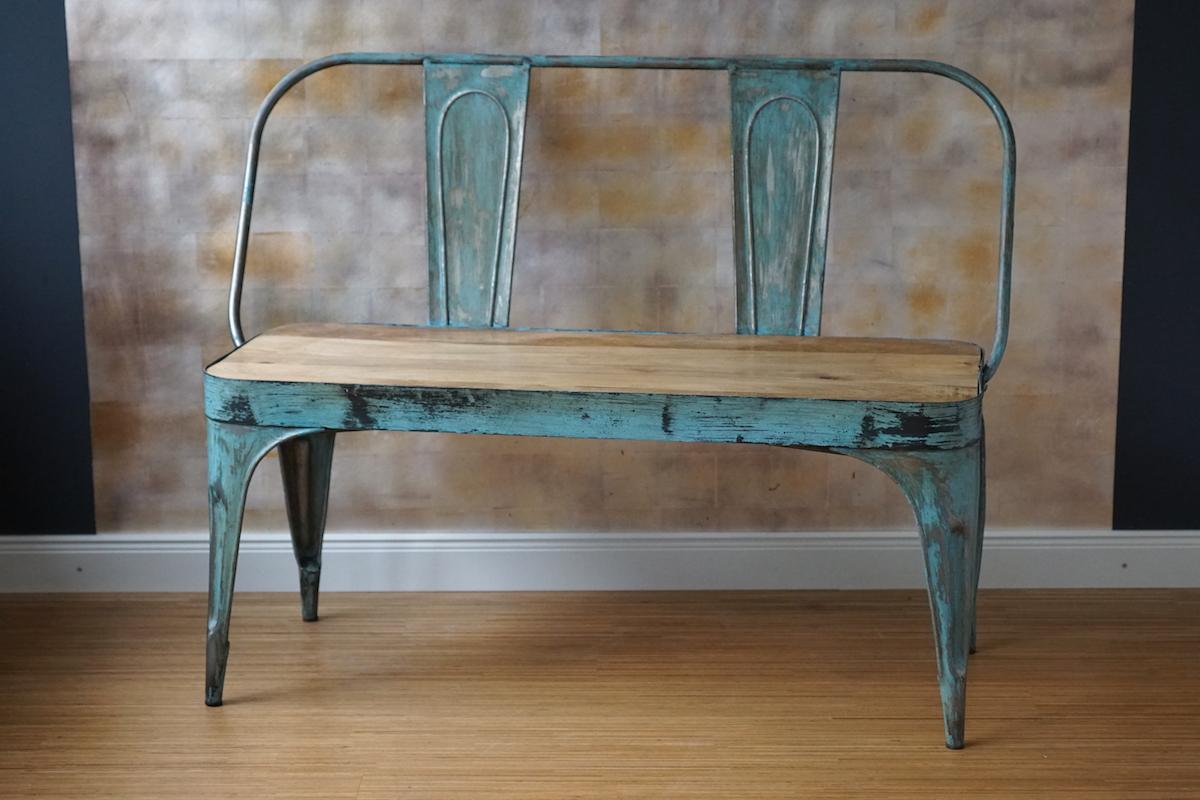 bank metall t rkis klassiker co. Black Bedroom Furniture Sets. Home Design Ideas