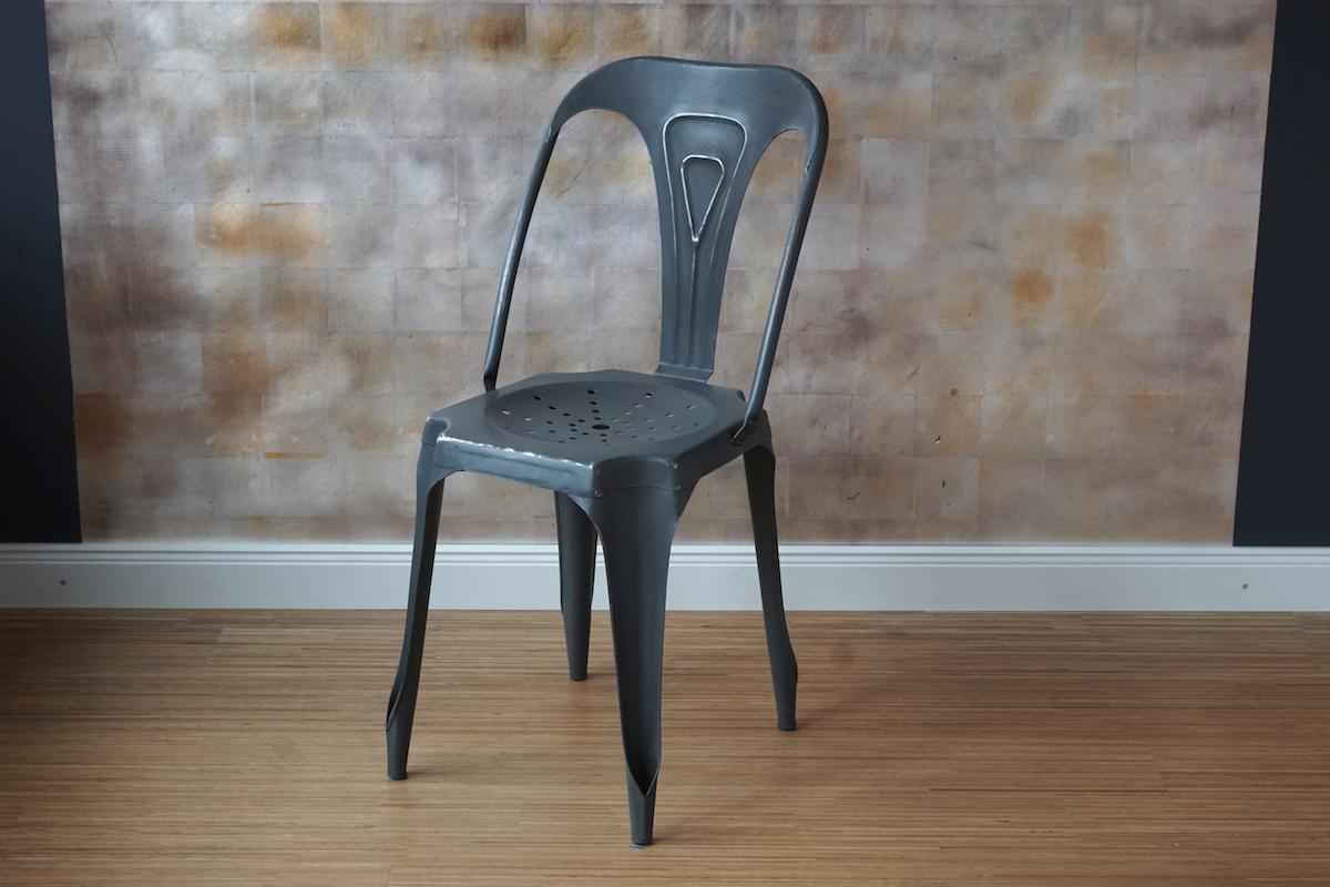 Wunderschön Metall Stuhl Beste Wahl Metallstuhl Französisch Grau