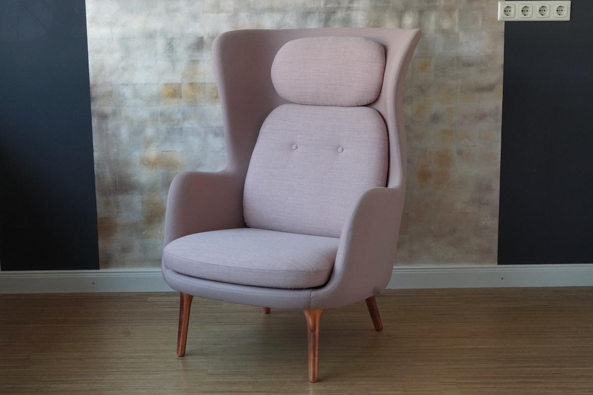 fritz hansen sessel ro rose klassiker co. Black Bedroom Furniture Sets. Home Design Ideas